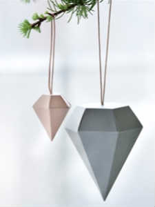 find den lækre paper diamond julepynt