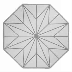 oktagon tæppe i grå skaber den moderne jul