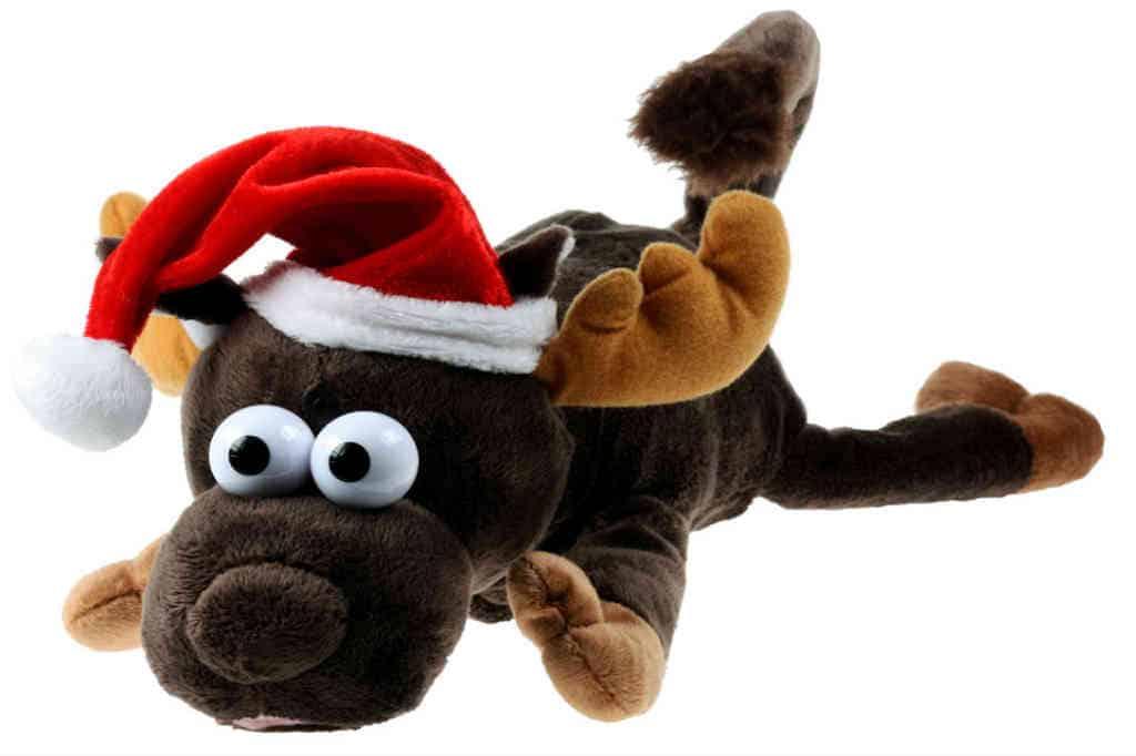 det grinede julerensdyr er den sjove adventsgave til barnet