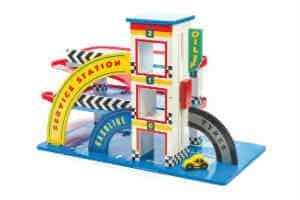 Giv drengen den sjove Le Toy Van garage i gave