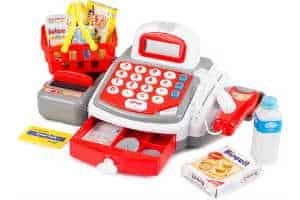 Køb et kasseapparat som den gode legetøjsgave til juleaften