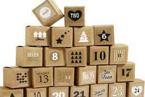Køb de smarte gaveæsker til indpakning af julekalender