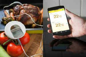 køb et elektronisk stegetermometer i søndagsgave