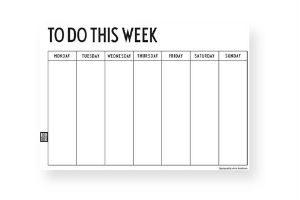 køb den elegante uge kalender i gave til jul
