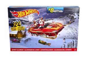 giv drenge den sjove hot wheels legetøjs kalender til jul