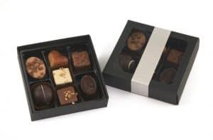 Gaveæske med chokolade